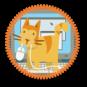 "Feline ""Assistance"" Merit Badge by Merit Badger"