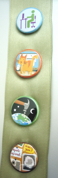 Badger Scout Sash and Badges by Merit Badger